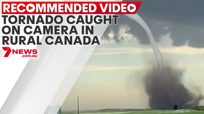 Tornado caught on camera touching down in rural Canada