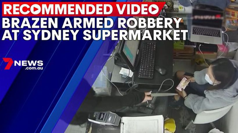 Brazen armed robbery at Sydney Supermarket