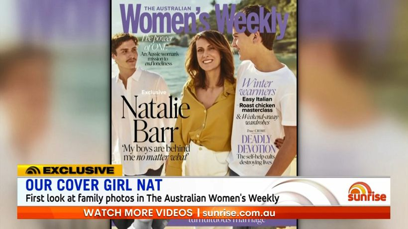 Natalie Barr and her boys appear on cover of Australian Women's Weekly