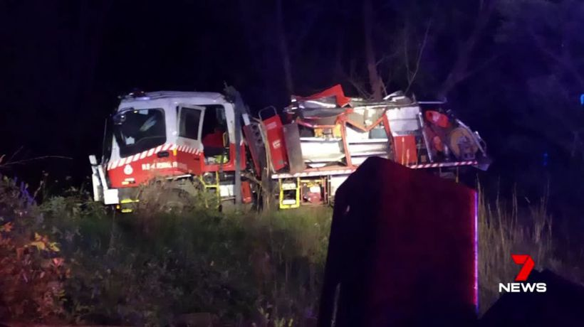Lucky escape for firefighters