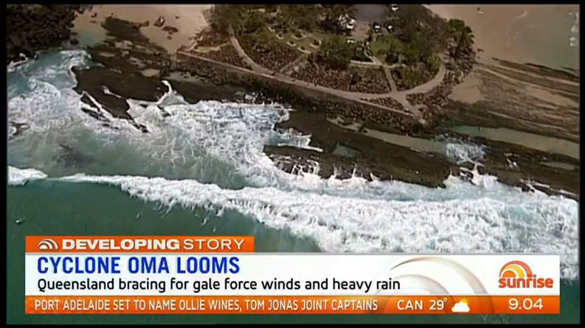 Cyclone Oma looms above Queensland