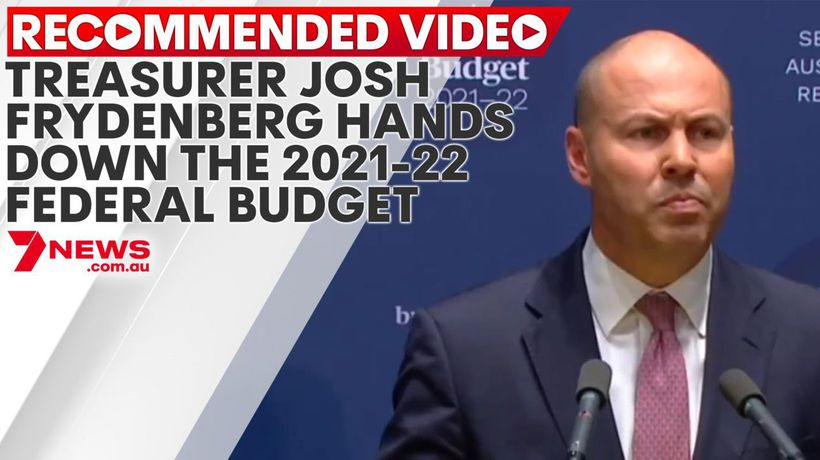 Treasurer Josh Frydenberg hands down the 2021-22 Federal Budget