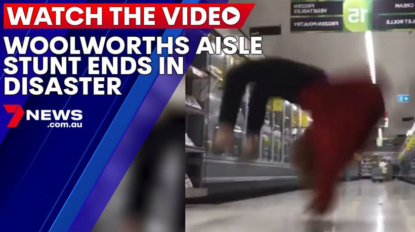 Woolworths aisle stunt ends in disaster