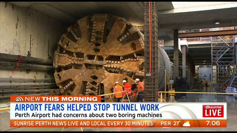 Airport fears helped stop tunnel work
