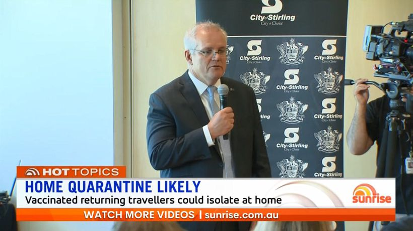 Scott Morrison says vaccinated Australians could soon travel overseas