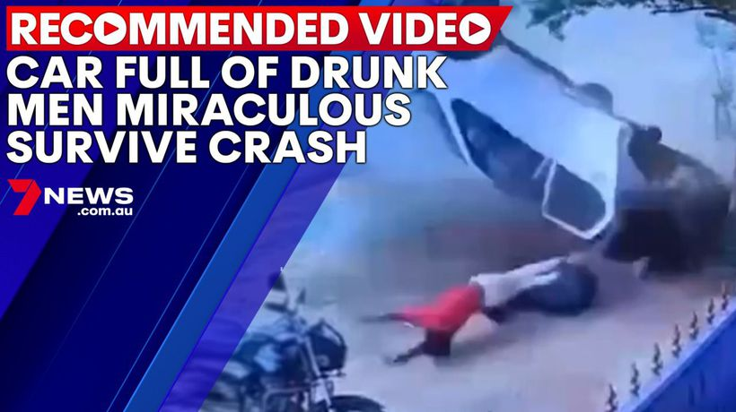Car full of drunk men miraculous survive crash