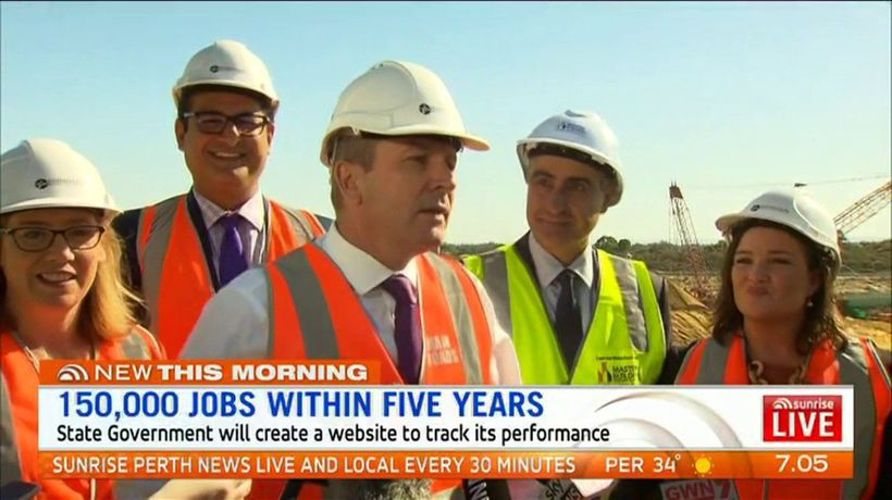 Premier promises 150,000 jobs within five years