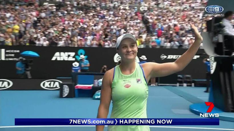 Ash Barty progresses to last 16