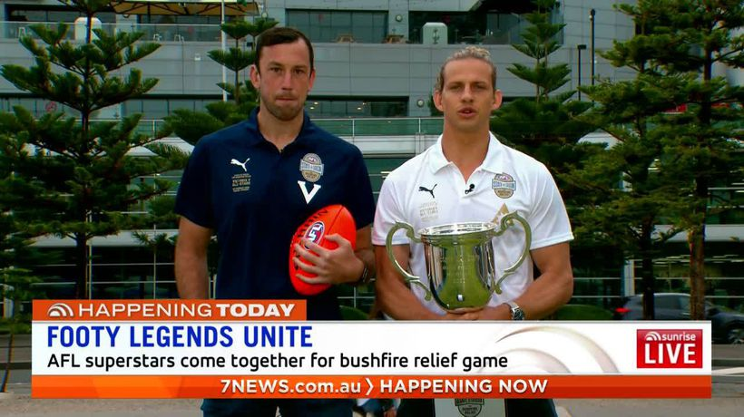 Star players and commentators unite for bushfire charity match