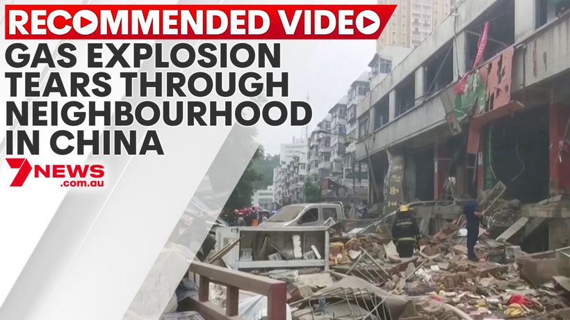 Gas explosion tears through residential neighbourhood in China