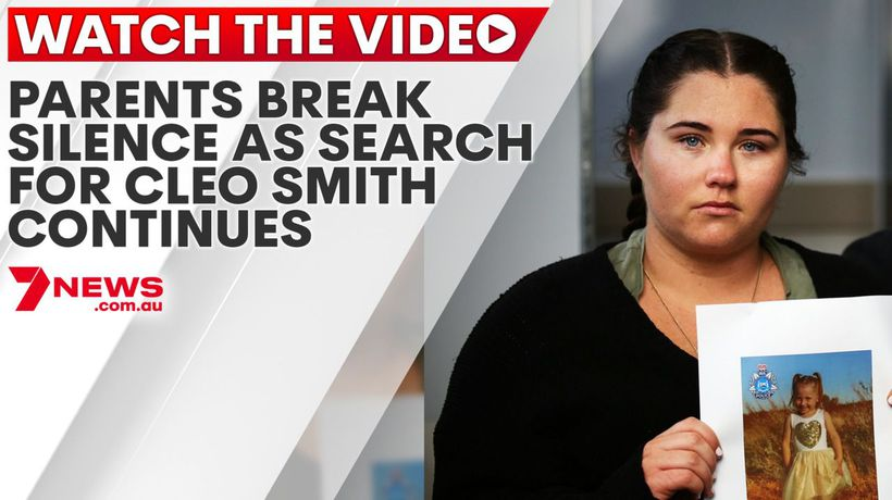 Parents break silence as search for Cleo Smith continues