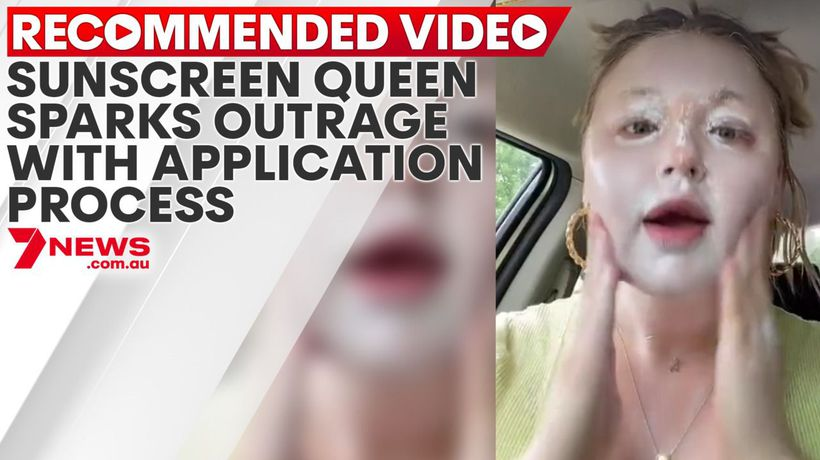 Sunscreen queen sparks outrage with SPF application process