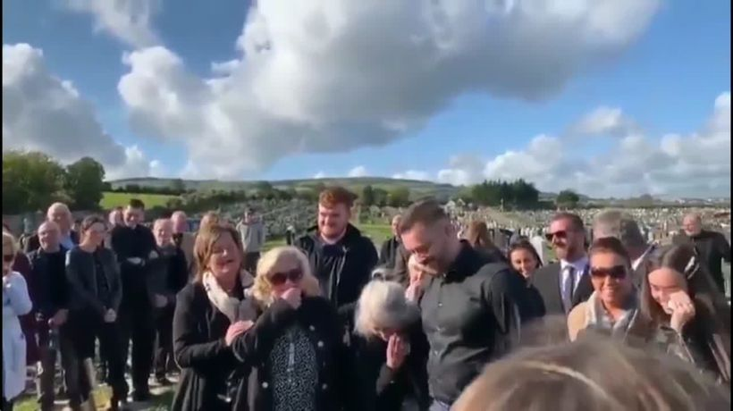 Funeral goers left laughing after pre recorded prank