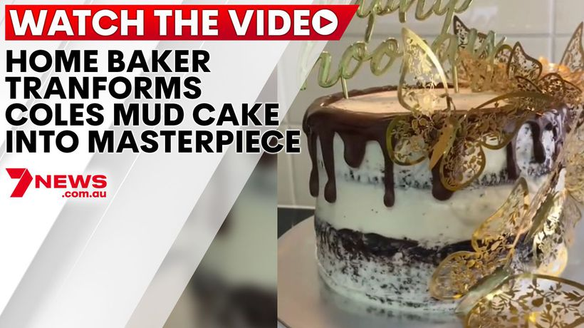 Home baker transforms Coles mud cake into a masterpiece