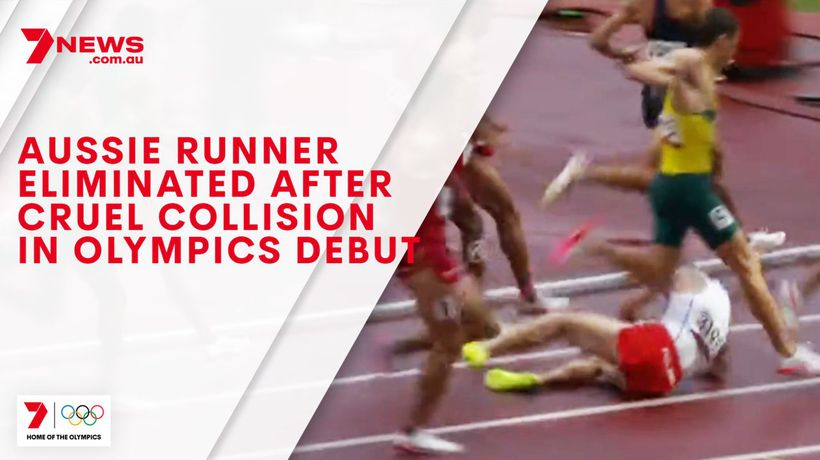 Aussie runner eliminated after cruel collision in Olympics debut