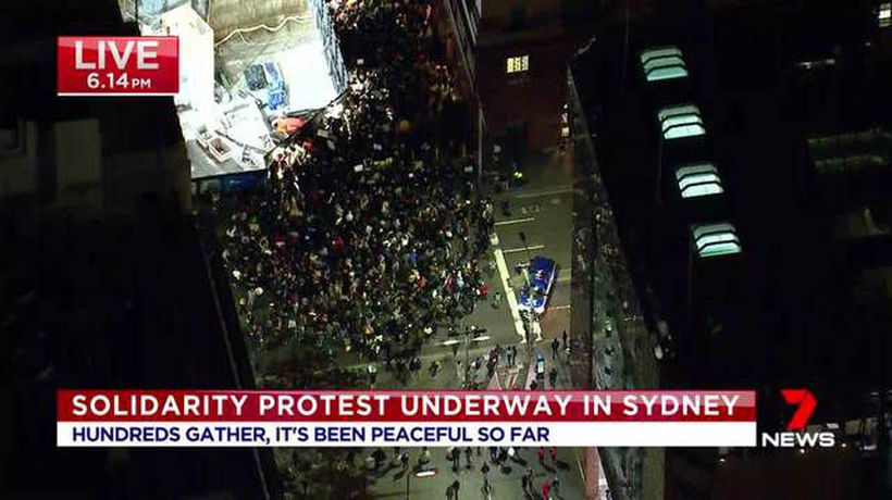 Black Lives Matter protest takes place in Sydney CBD