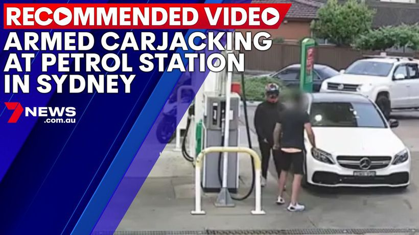 Armed carjacking at petrol station in Sydney