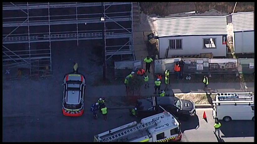 Man falls 5 floors in workplace accident