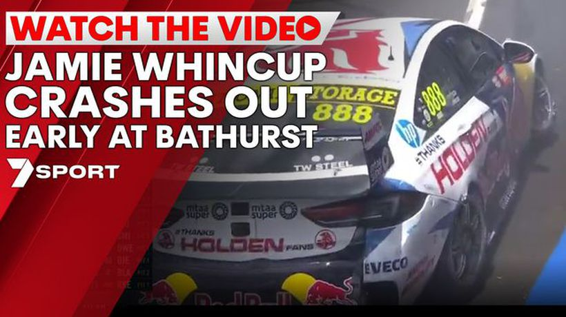 Jamie Whincup crashes out early at Bathurst