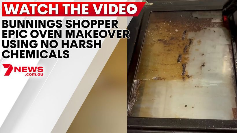 Bunnings shopper's epic oven makeover using no harsh chemicals