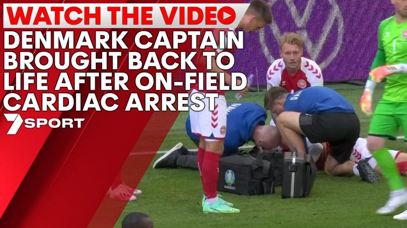 Denmark captain brought back to life after on-field cardiac arrest