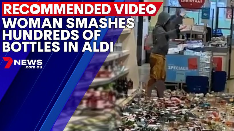 Woman smashes hundreds of bottles in Aldi