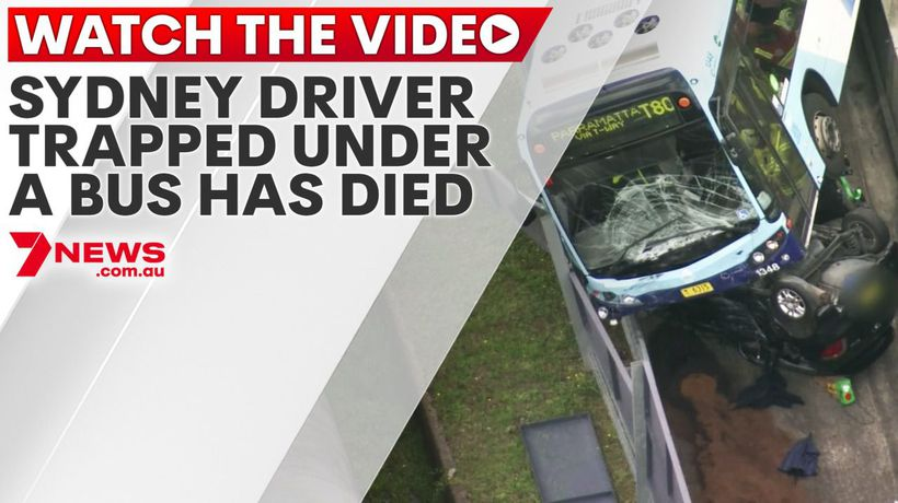 Sydney driver trapped under a bus has died