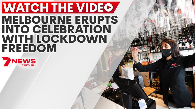 Melbourne erupts into celebration with lockdown freedom