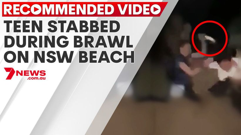 Teen stabbed during brawl on NSW beach