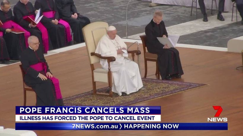 Pope Francais has missed Mass due to unspecified illness