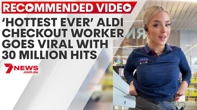 'Hottest ever' ALDI checkout worker goes viral with 30 million hits