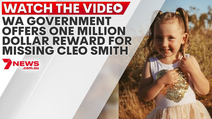 WA government offers one million dollar reward for missing Cleo Smith