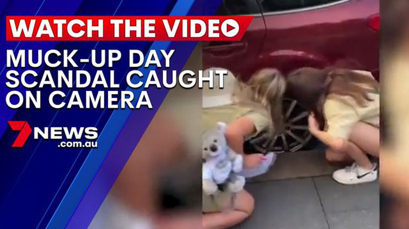 Another muck-up day scandal caught on camera