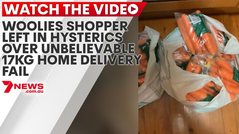 Woolies shopper left in hysterics over unbelievable 17kg home delivery fail