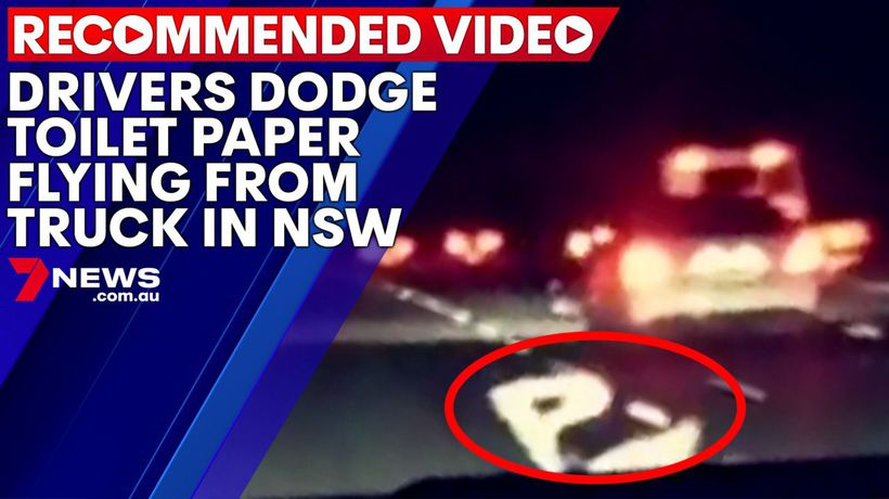 Drivers dodge toilet paper flying from truck in NSW