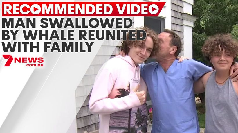 Man swallowed by whale reunited with family