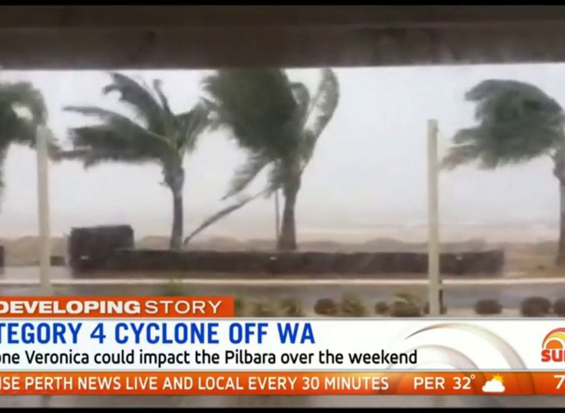 Category 4 cyclone off WA