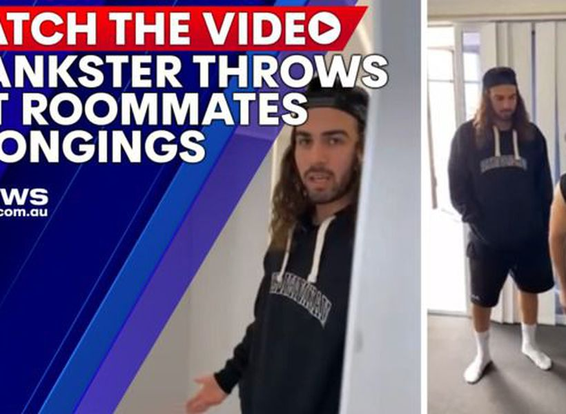 Prankster throws out roommates belongings
