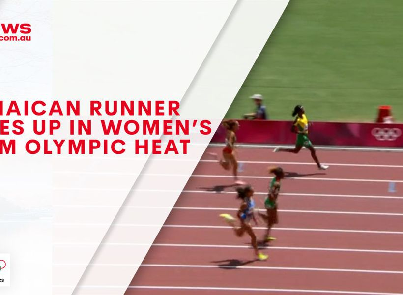 Jamaican runner gives up in women's 200m Olympic heat