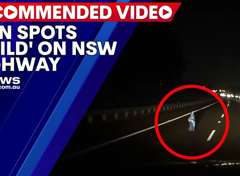 Man spots 'child' on NSW highway