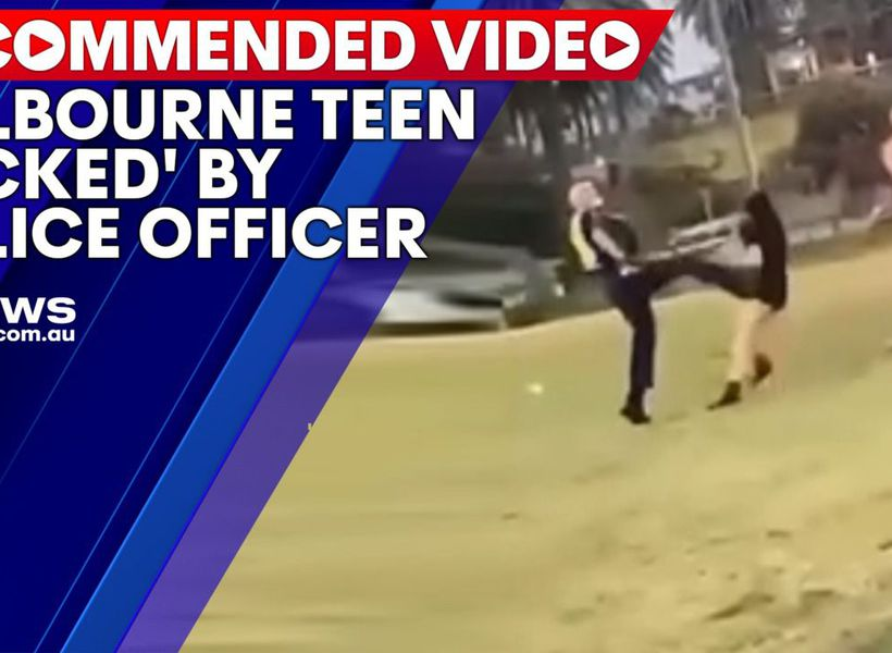 Melbourne teen 'kicked' by police officer at St Kilda Beach