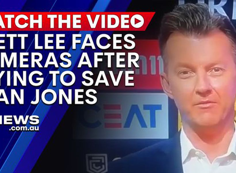 Brett Lee fronts cameras hours after Dean Jones' death