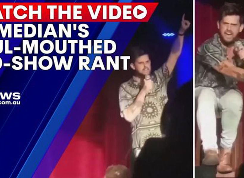Comedian's foul-mouthed rant mid-show