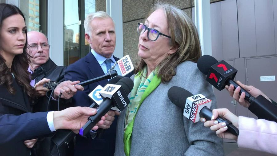 Tess Knight speaks to the media about daughter's killer