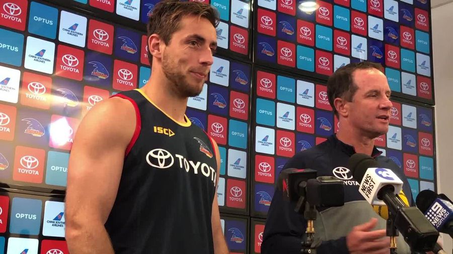 Retiring Crow Richard Douglas speaks ahead of his last AFL match on Sunday