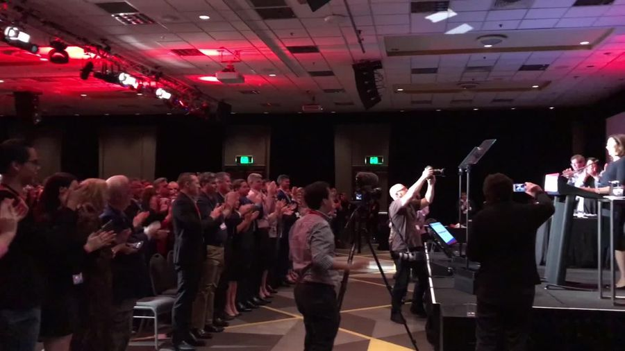 RAW: Qld Labor conference applauding Palaszczuk