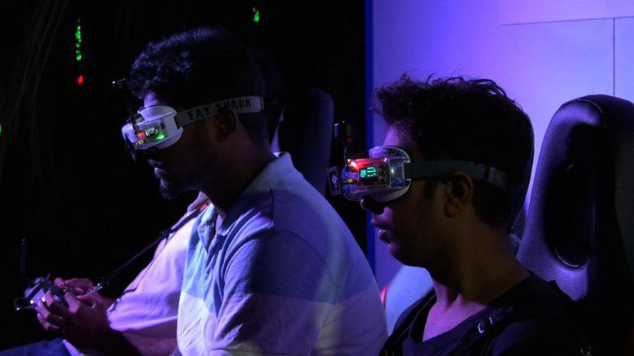 Drone racing competition wows India