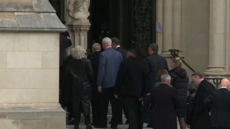 People arrival for funeral of former President George H.W. Bush