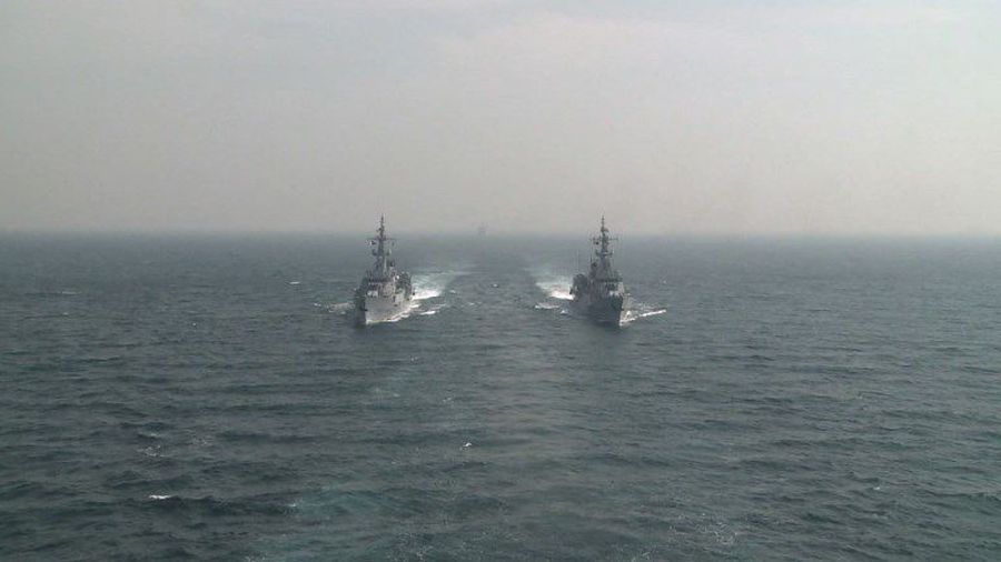 Multinational naval exercices take place off Pakistan coast