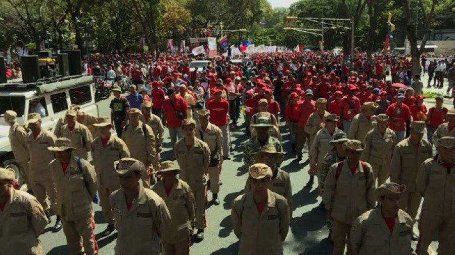 Maduro supporters rally in Caracas